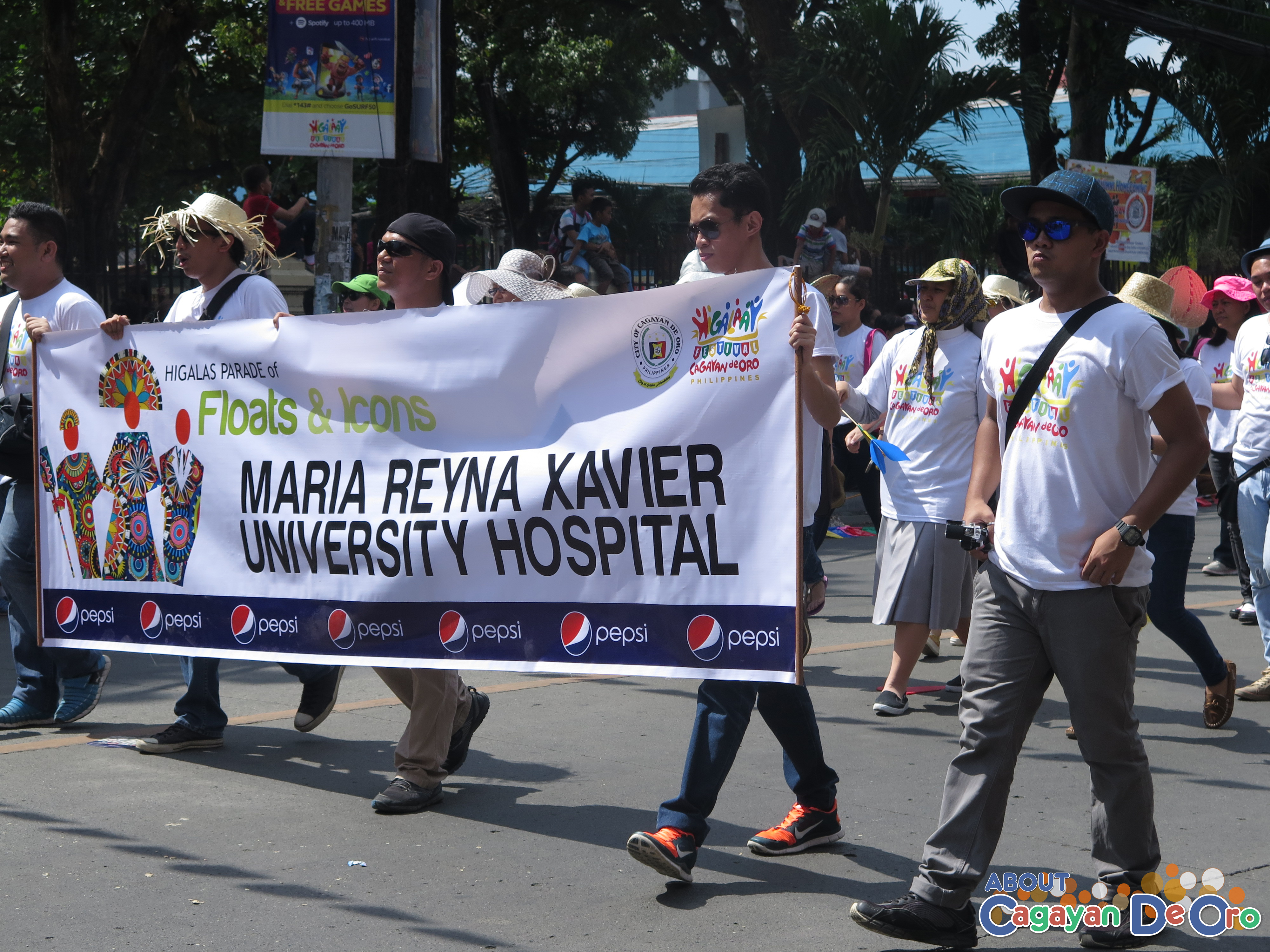 Maria Reyna Xavier Hospital at Cagayan de Oro The Higalas Parade of Floats and Icons 2015