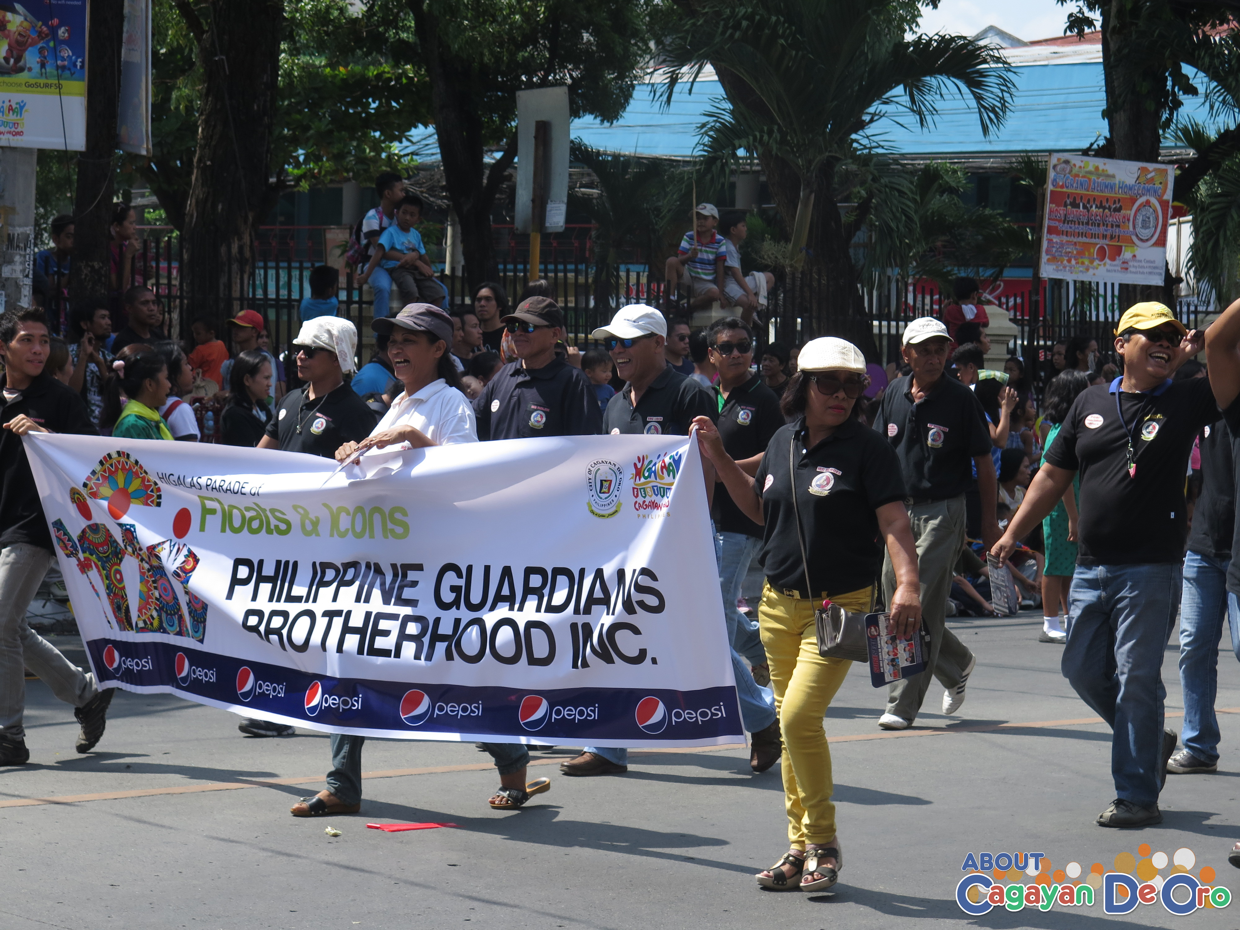 Philippine Guardians Brotherhood Inc. at Cagayan de Oro The Higalas Parade of Floats and Icons 2015