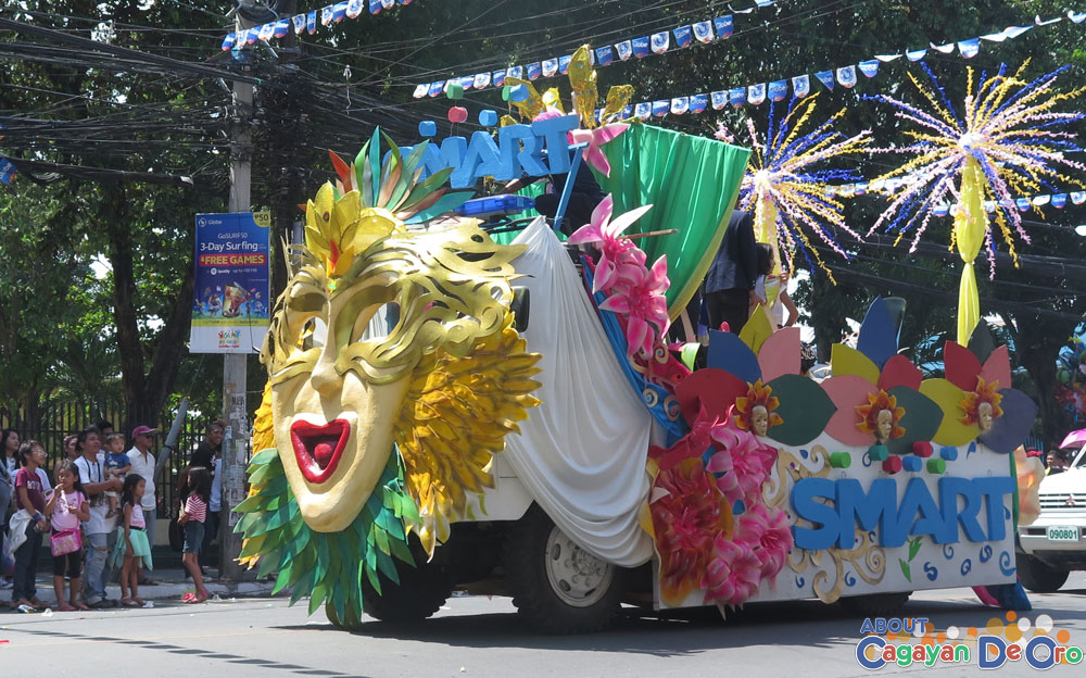 Smart Float at at Cagayan de Oro The Higalas Parade of Floats and Icons 2015