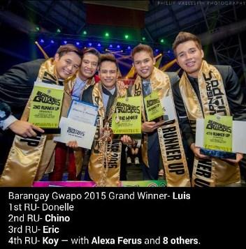 barangay gwapo 2015 winner