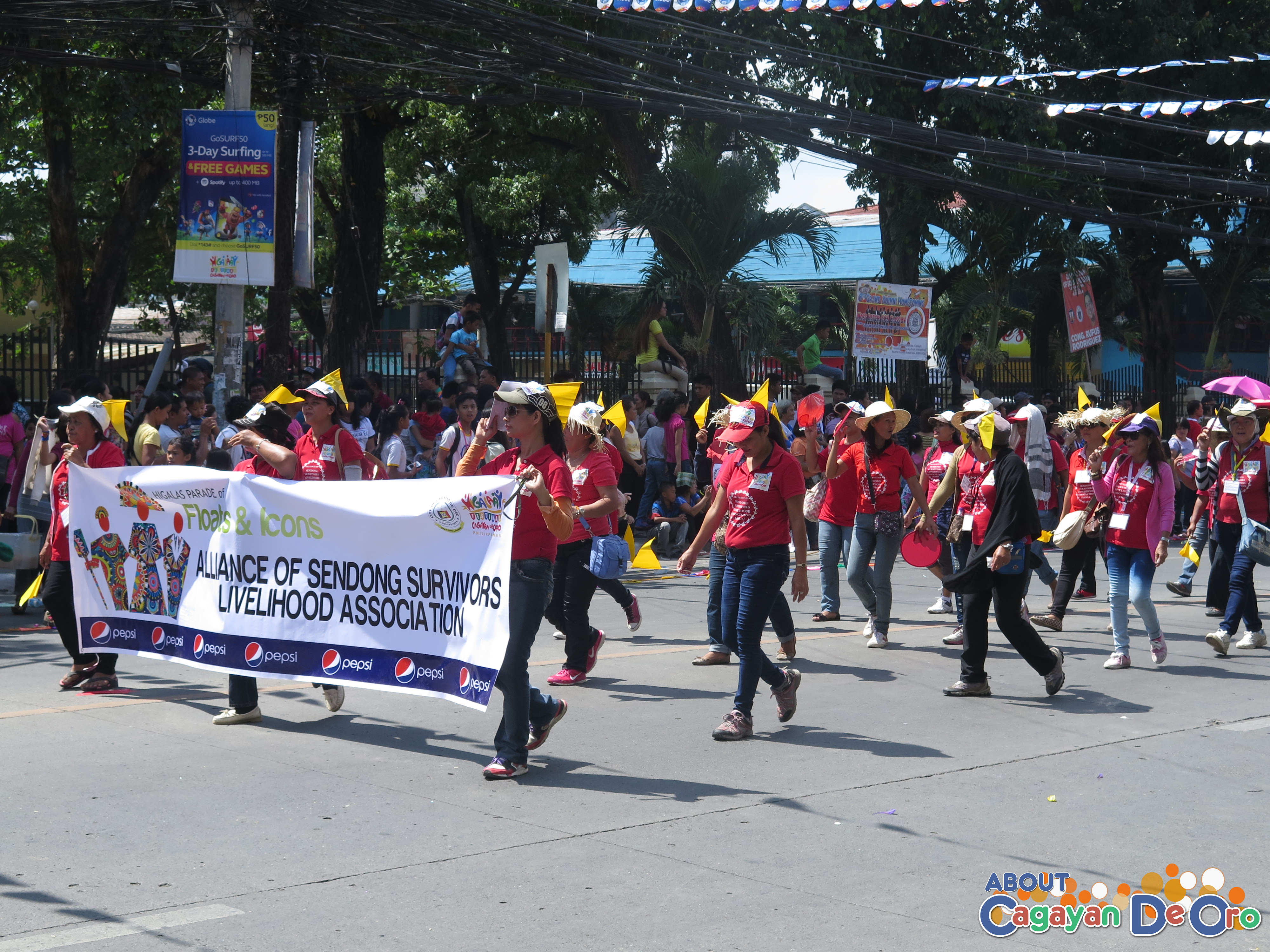 Alliance of Sendong Survivor Livelihood Association at Cagayan de Oro The Higalas Parade of Floats and Icons 2015