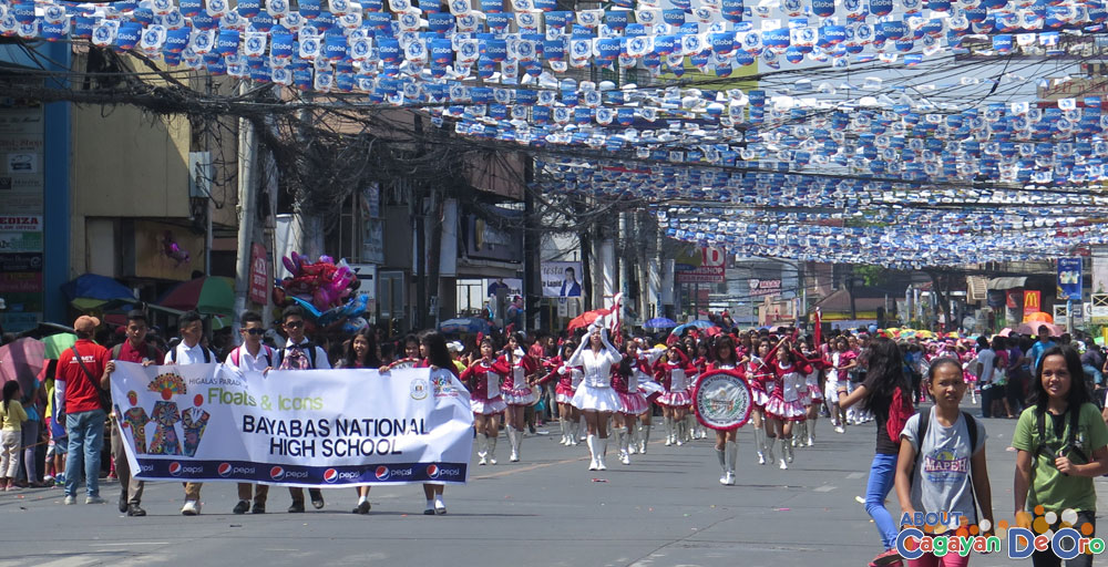 Bayabas National High School at Cagayan de Oro The Higalas Parade of Floats and Icons 2015
