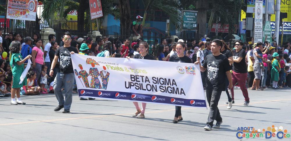 Beta Sigma Upsilon Sigma at Cagayan de Oro The Higalas Parade of Floats and Icons 2015