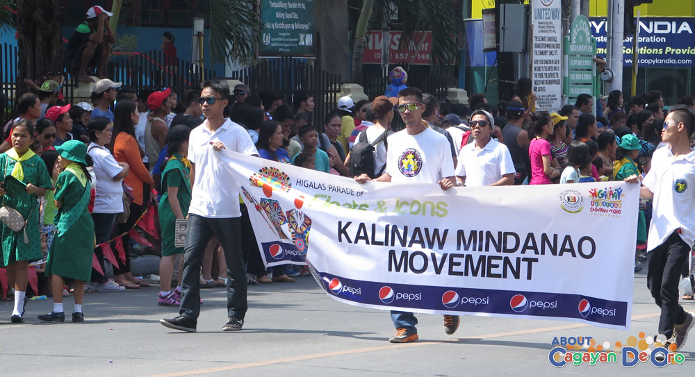 Kalinaw Mindanao Movement at Cagayan de Oro The Higalas Parade of Floats and Icons 2015
