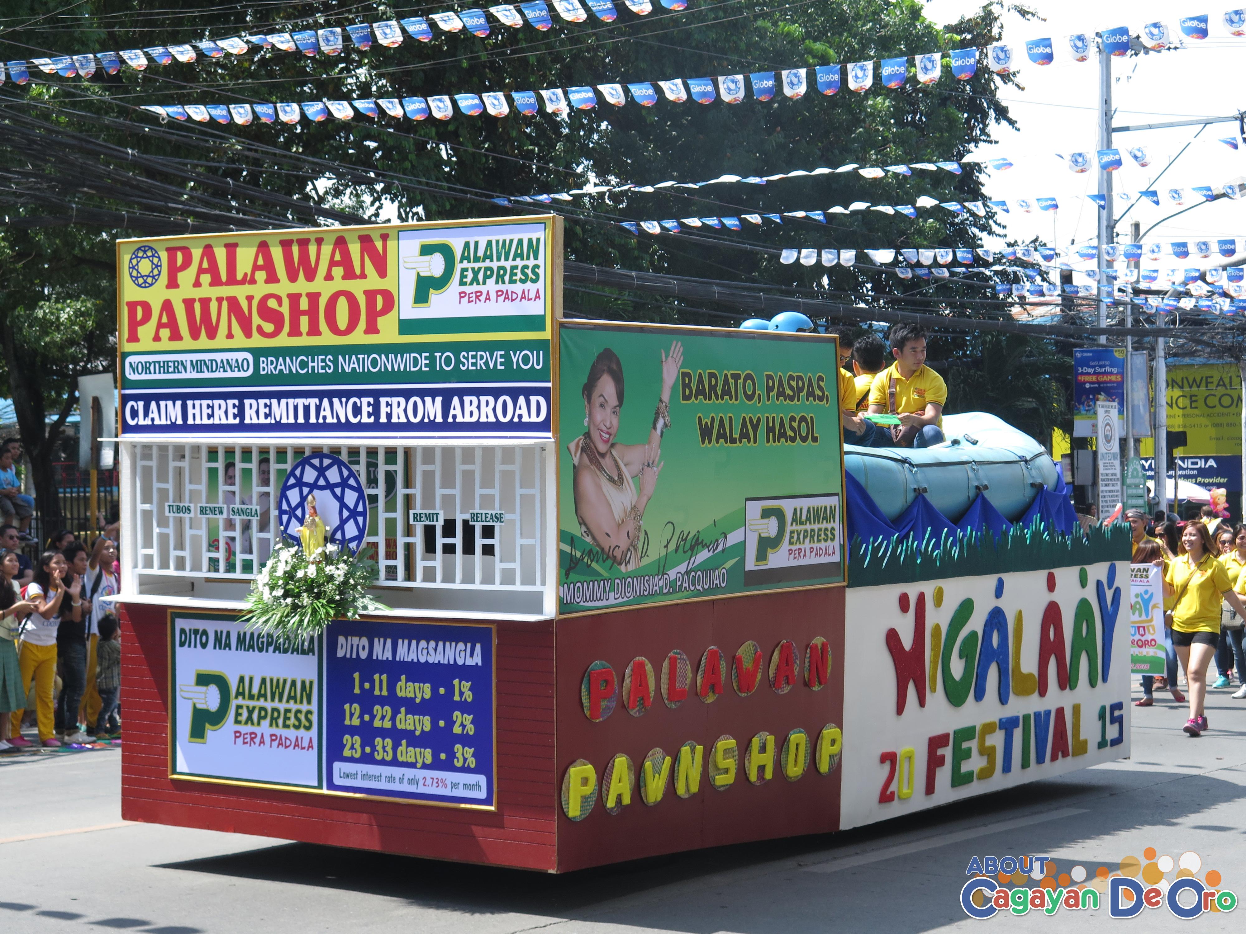 Palawan Pawnshop at Cagayan de Oro The Higalas Parade of Floats and Icons 2015