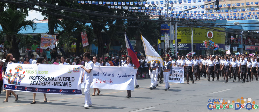 Professional World Academy at Cagayan de Oro The Higalas Parade of Floats and Icons 2015
