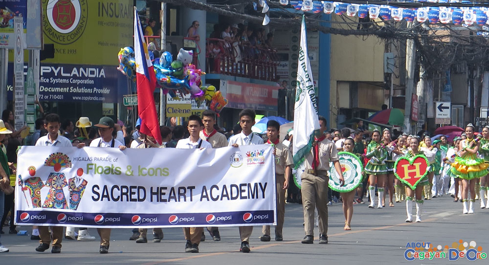 Sacred Heart Academy at Cagayan de Oro The Higalas Parade of Floats and Icons 2015