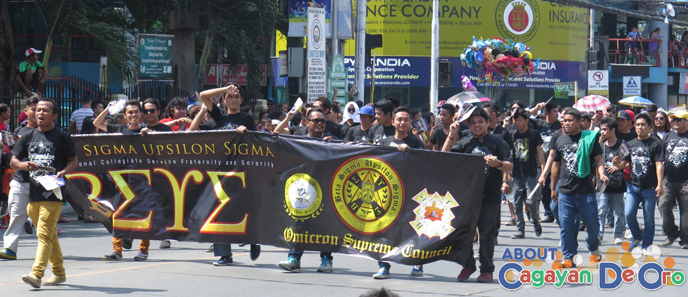 Sigma Upsilon Sigma at Cagayan de Oro The Higalas Parade of Floats and Icons 2015