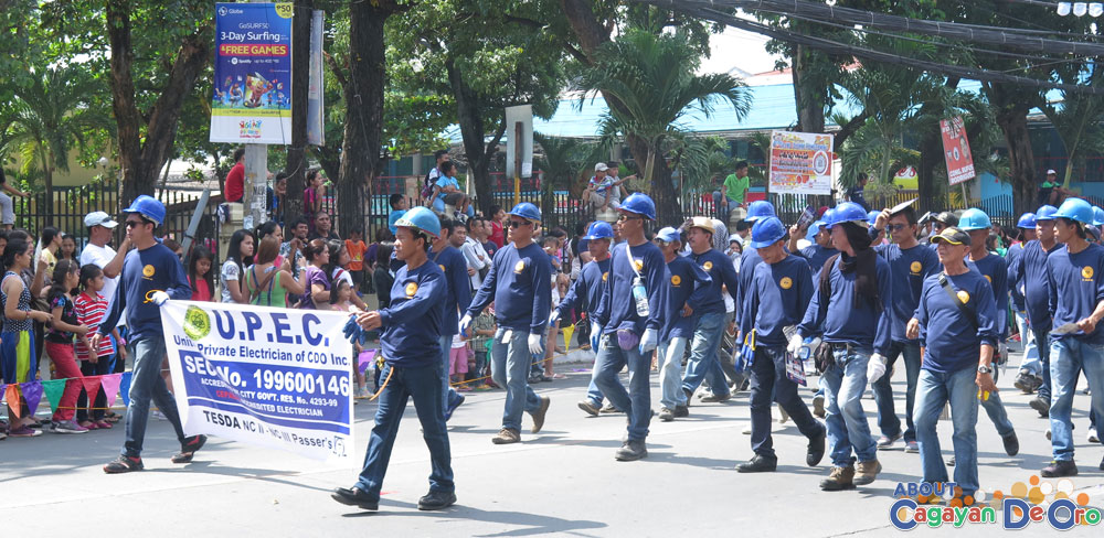 United Private Electrician og CDO Inc at Cagayan de Oro The Higalas Parade of Floats and Icons 2015