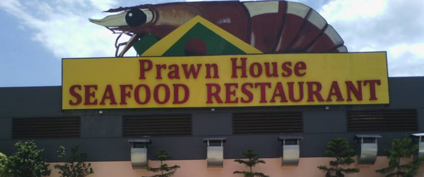prawn house signage