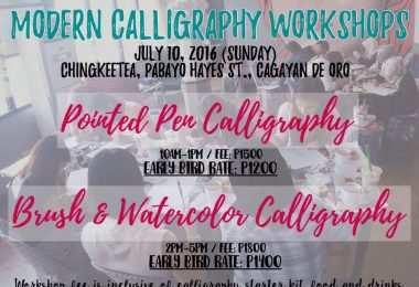 modern calligraphy workshop in cagayan de oro