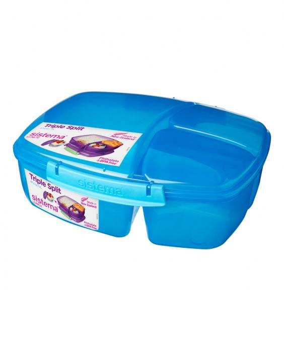 Plastic Triple Split Lunch Box