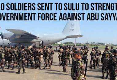 1000 soldiers to sulu