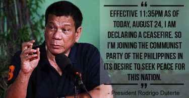 duterte declared ceasefire again
