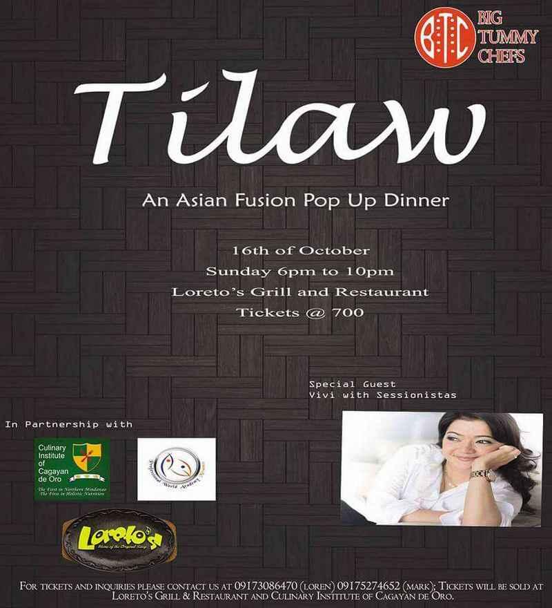 tilawi asian fusion pop up dinner