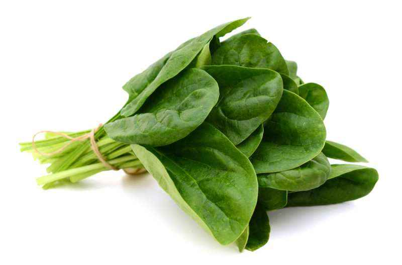 happy foods spinach