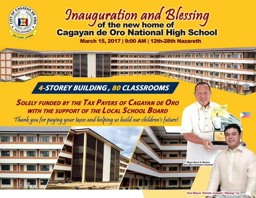 cdonhs biggest public school in cdo