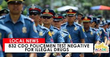 CDO Policemen test negative for illegal drugs