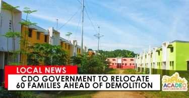 CDO Government to Relocate 60 Families