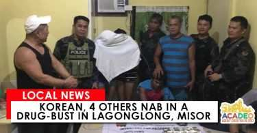 Korean, 4 others nab in a drug-bust
