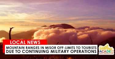 mountain ranges misor off limits tourists military operations