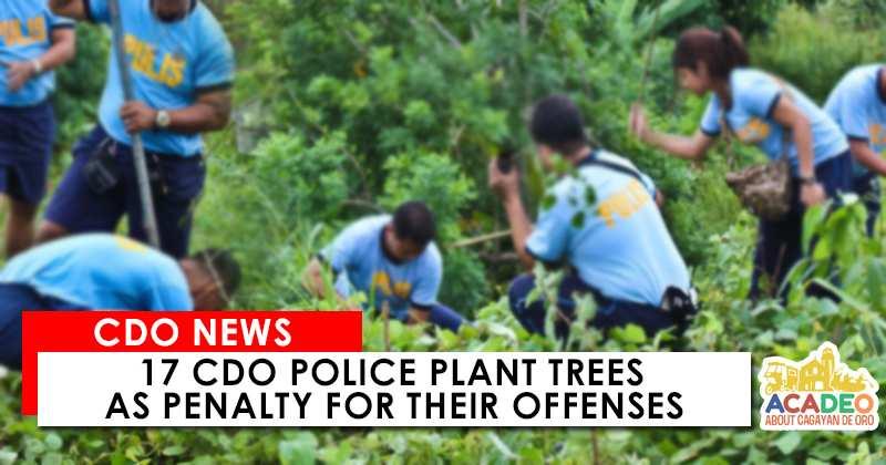 cdo police plant trees demerits