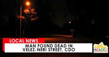 Man Found Dead at CDO