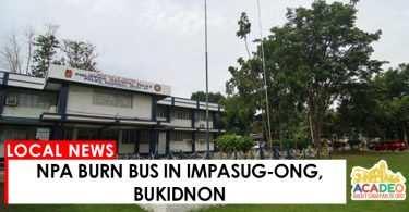 NPA burn bus in Bukidnon