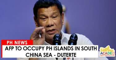 AFP to occupy PH islands in South China Sea