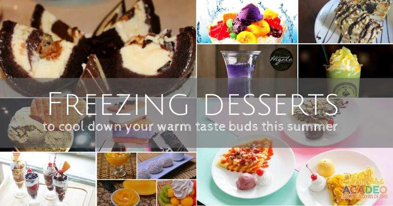 Freezing desserts