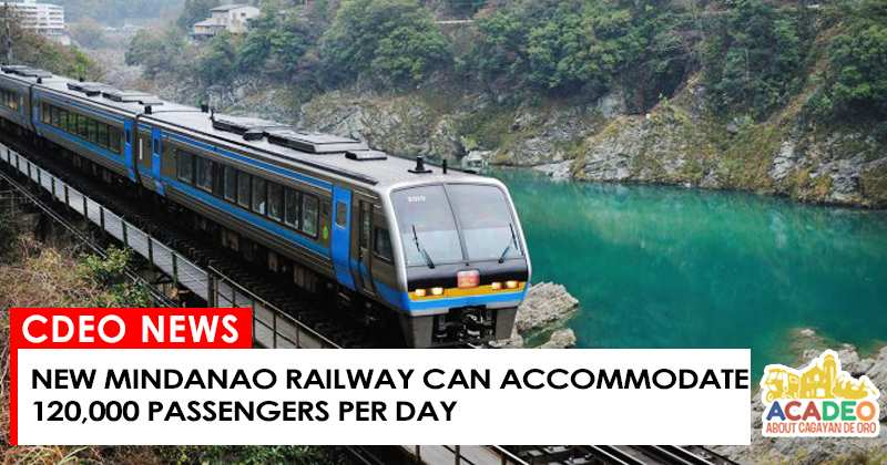 new mindanao railway to accommodate 120 000 passengers per day