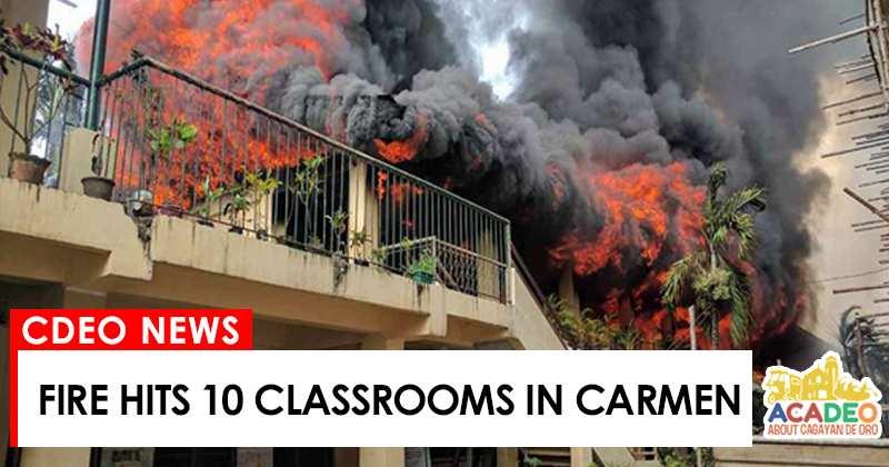 fire hits classroom