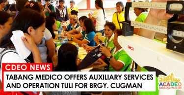 tabang medico for barangay cugman, cagayan de oro government offers tabang medico
