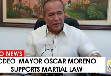 05252017 - MAYOR MORENO SUPPORTS MARTIAL LAW