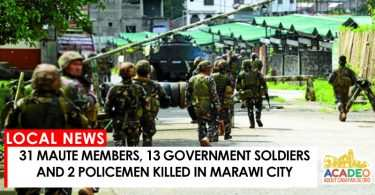 05262017 - 31 MG 13GS 2PM KILLED IN MARAWI