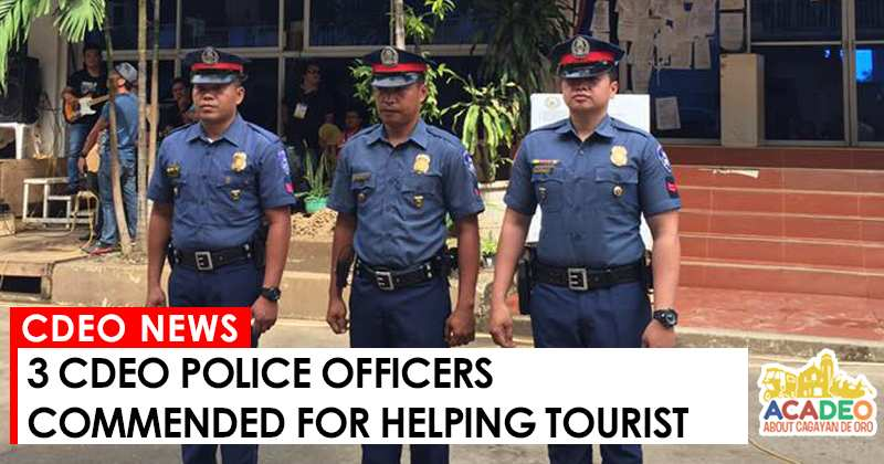 3 cops helps tourist in cdo