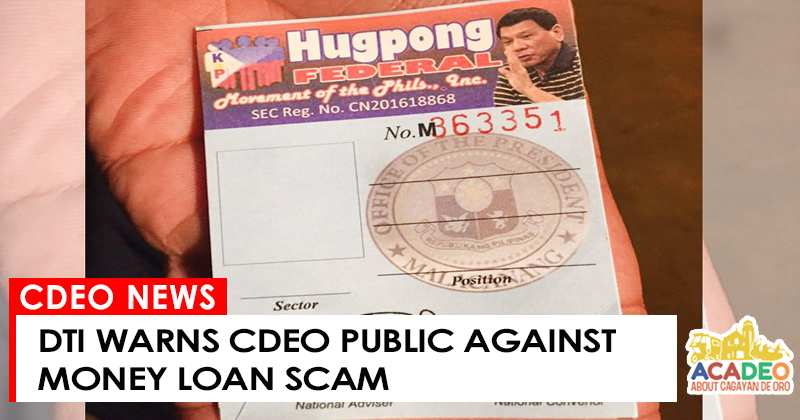 DTI WARNS AGAINST SCAM