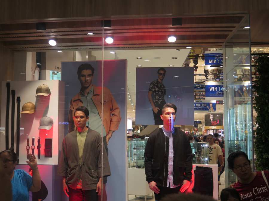 human mannequins in sm cdeo downtown premier