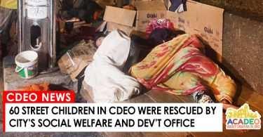 STREET CHILDREN RESCUED