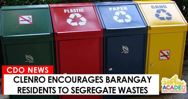 Waste segregation in CDEO