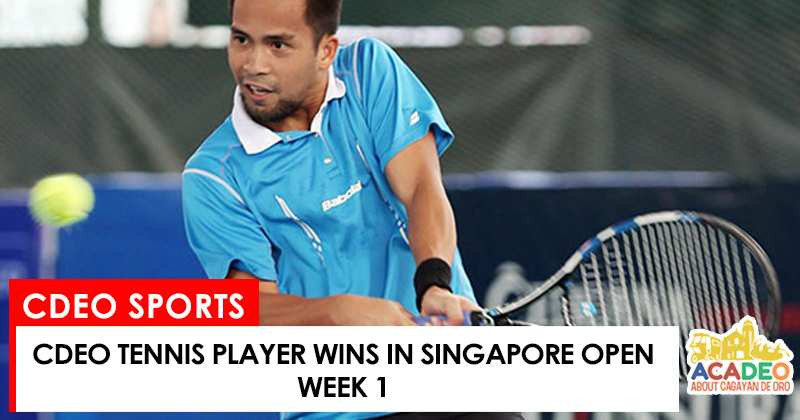alcantara won in singapore tennis competition