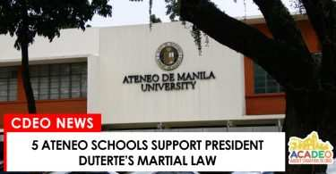 ateneo schools supports martial law