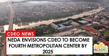 NEDA says CDEO will become one of the four metropolitan centers