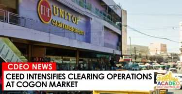 City Economic Enterprises Department (CEED) intensifies clearing operation, clearing operation in cogon market, clearing operation cogon market