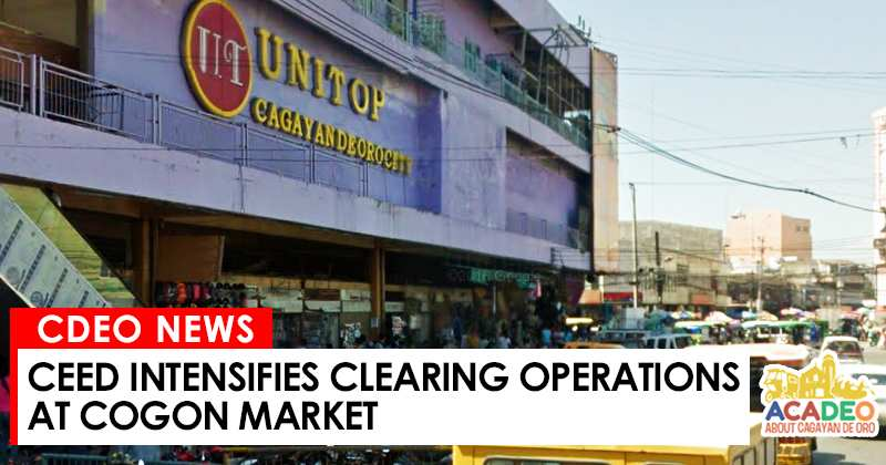 City Economic Enterprises Department (CEED) intensifies clearing operation, clearing operation in cogon market