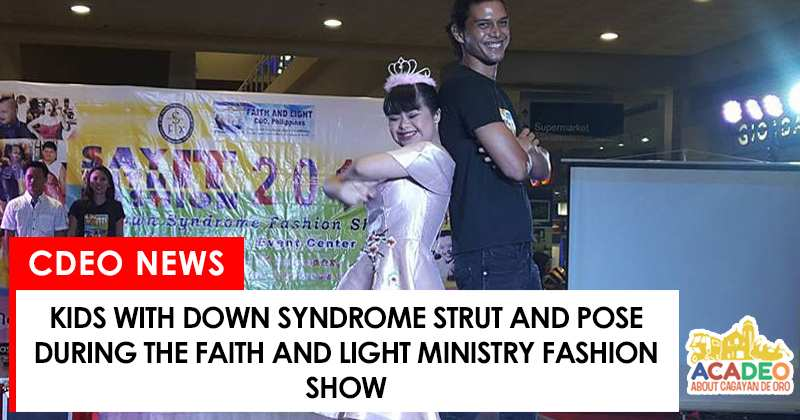 kids with down syndrome in a fashion show
