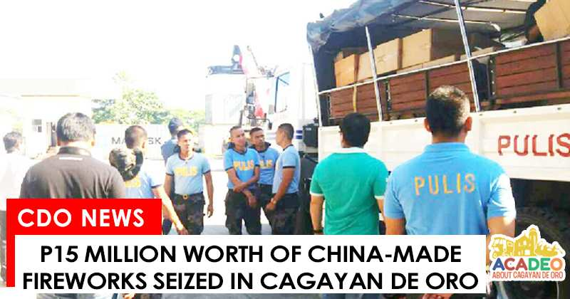 china-made fireworks seized in cdeo, fireworks turned over to BOC