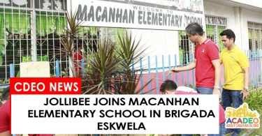 Jollibee helps Macanhan Elementary School in Brigada Eskwela