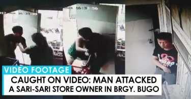 man caught attacking