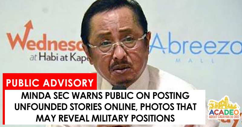 Minda warns public on posting online
